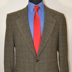 Savile Row 39R Sport Coat Blazer Suit Jacket Gray